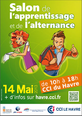 Affiche salon de l'apprentissage 2013